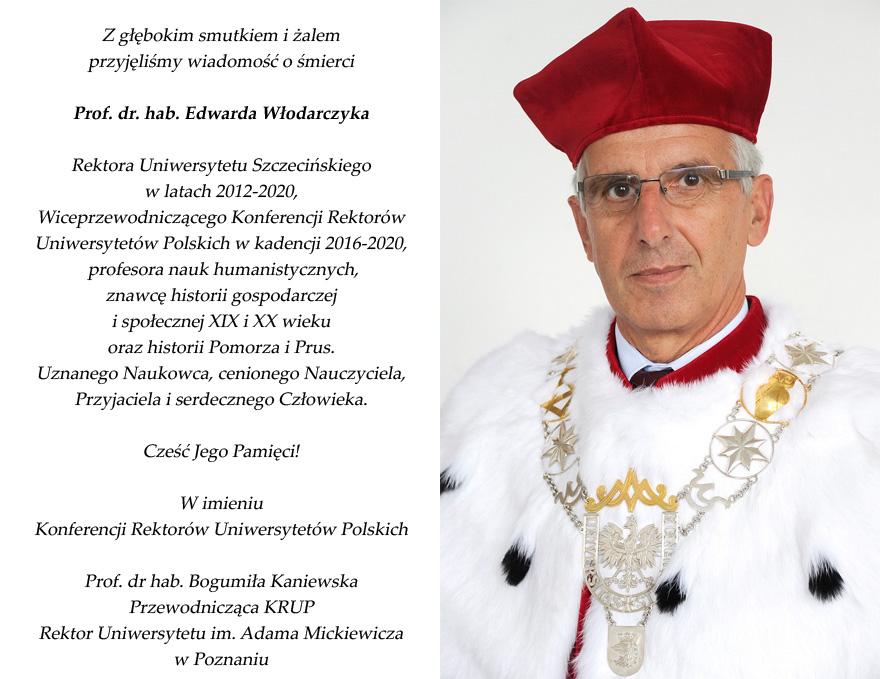 Nekrolog prof. Włodarczyk